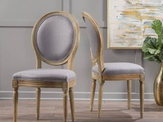 Phinnaeus French Country Fabric Dining Chairs  Set of 2  by Christopher Knight Home  Retail 503 99