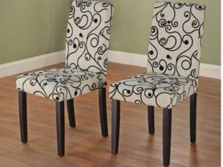 Simple living Sophia 2 piece Parson Cream Dining chair Set  Retail 357 49