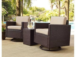 Palm Harbor Outdoor Wicker Conversation With Sand Cushions  Retail 838 99