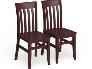Copper Grove Glencairn Wood Dining Chairs  Set of 2  Retail 374 49