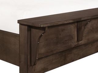 The Gray Barn Springing Water Modern Rustic Wood Sleigh king footboard only  Retail 814 49