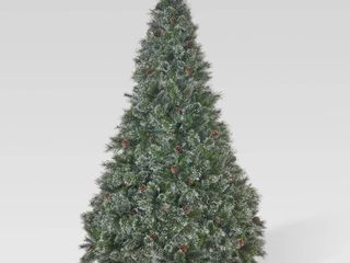 7ft Cashmere Pre lit  Unlit  or Multi Colored Artificial Christmas Tree w  Snowy Branches   Pinecones by Christopher Knight Home  Retail 191 99