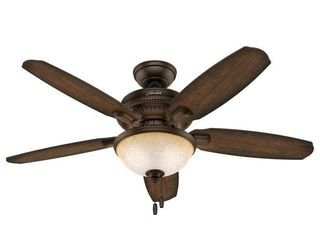 Hunter 48  Millbrook Indoor Ceiling Fan with lED light Kit and Pull Chain  Retail 123 49
