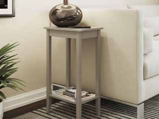 DHP Rosewood Tall End Table  Gray