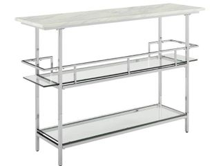 Aimee Bar with Chrome Finish and Paper Marble Top   N A  Retail 398 99