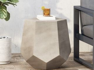 Felix lightweight Concrete Side Table by Christopher Knight Home  Retail 123 99