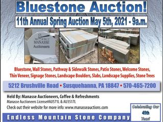 11th Annual Endless Mountain Stone - Palletized Bluestone Auction 900+ Pallets