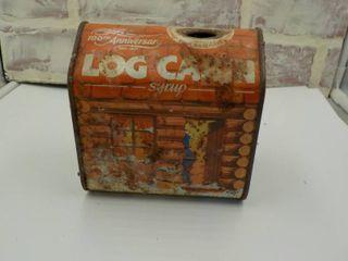 log cabin can