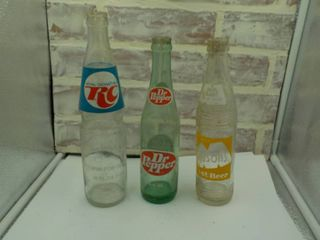 3 classic soda bottles