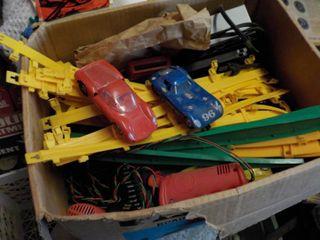 vintage strombecker slot car track set
