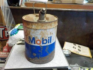5 gal mobil oil can