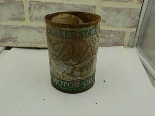 metal quaker state 1 qt oil can
