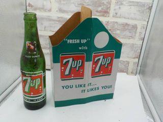 vintage 7up carton w  bottle