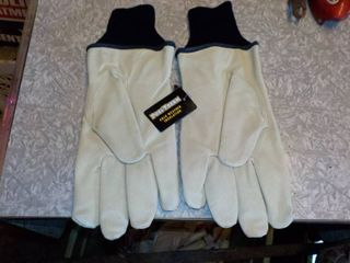 new pair of large insulated gloves