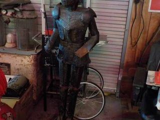 knight statue metal