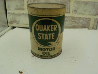 quaker state motor oil can  1 qt  full
