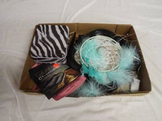 lot with wall decor  face masks and clips