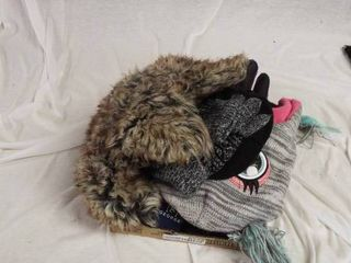 lot of various hats   gloves