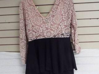 Women s pink and black eVouges short dress size 3Xl