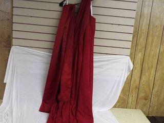 David s bridal red brides maids dress size 20