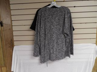 Black cato women s blouse size 14 16w and a women s design history grey shirt 2Xl