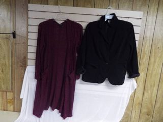 Worthington women s dressy jacket size 14w and a purple torrid over jacket size 0