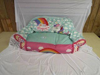 Small girls unicorn couch
