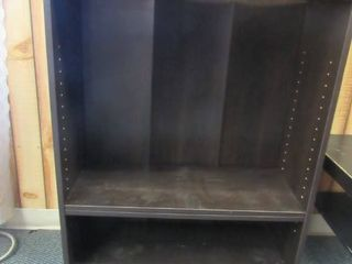Dark brown bookshelf