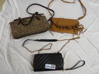 lot of 3 various size purses