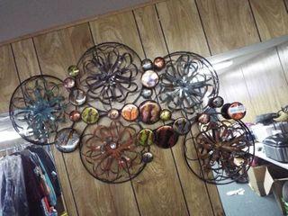 2 Metal wall art decors