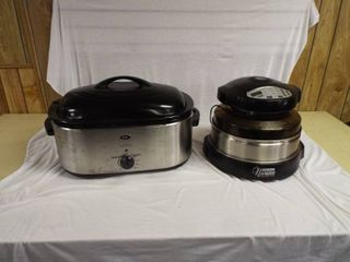 Oster 22 quart roaster oven and a pro plus nuwave oven