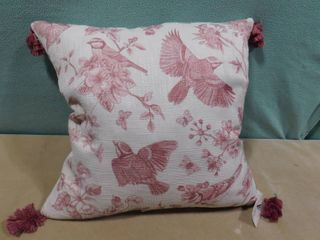 Marlo lorenz collection therapy beretta bird decor pillow 22 in X 22 in
