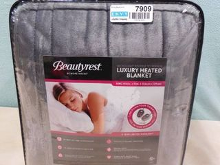 Beautyrest king luxury heated blanket with controllers included