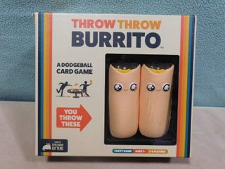 Throw throw burrito dodgeball card game  fun family or friend party game