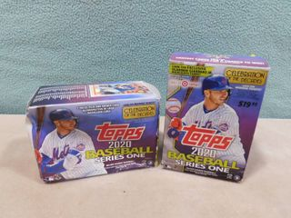 2 boxes of Topps 2020 baseball series one cards  both boxes are open and packages inside are all open not sure if any are missing