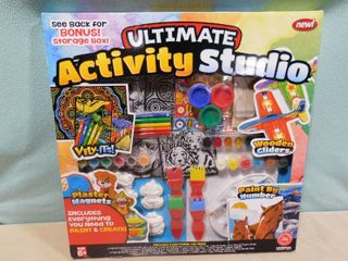 Ultimate activity studio  includes everything you need to paint and create with a bonus storage box