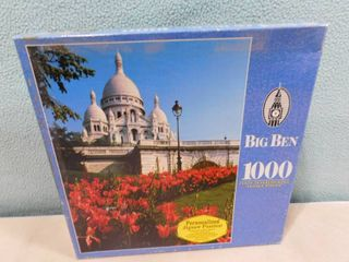 Big Ben 1000 piece puzzle Pink tulips  Paris  France