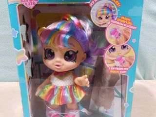 Kindi Kids snack time friend  Rainbow Kate 11  tall   box opened  doll unlaced  everything still in the box