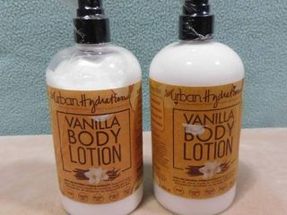 2 pack of Urban hydration vanilla scented body lotions  500 ml in each bottle