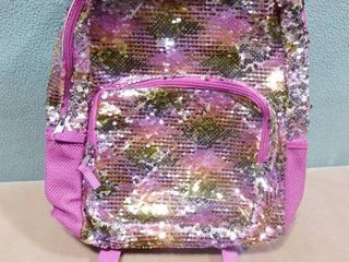 More than magic purple sequin changing children s backpack