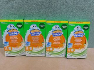 3 boxes with 10 refills in each box of scrubbing bubbles fresh brush flushable refills  citrus scented
