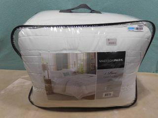 Madison Park Queen 5 piece white comforter set