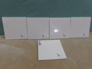 lot of 5 large white blank books  8 books with 8 sheets of paper a piece in each package  great for teachers or creative minds
