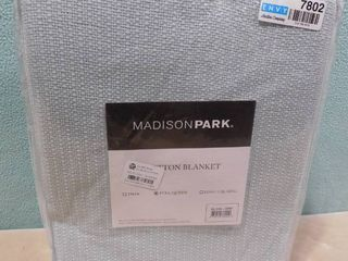 Madison Park full queen cotton blanket