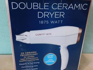 Conair double ceramic hair dryer with 3 heats and 2 speeds  great Christmas gift