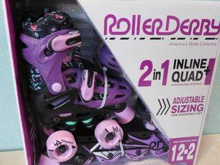 Roller derby 2 in 1 inline   quad interchangeable youth girls skates