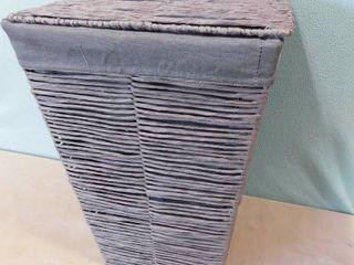 paper twine gray laundry bin 15 in l X 22 in H X 16 in W