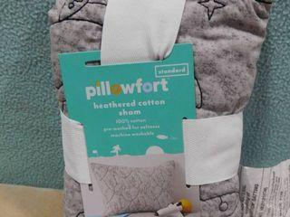 Pillowfort standard heathered cotton sham rocket themed 20 in X 26 in