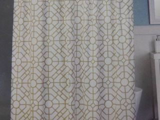 Vern Yip by SKl home bamboo lattice shower curtain 70 in X 72 in