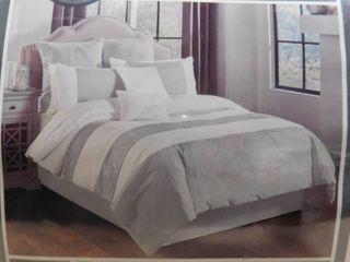 Alma 8 piece queen white comforter set
